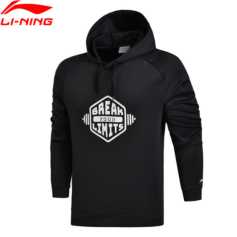 Li-Ning Men Training Series Sweater Regular Fit 93% Polyester 7% Spandex WARM AT Li Ning LiNing Sports Tops AWDM697 MWW1340