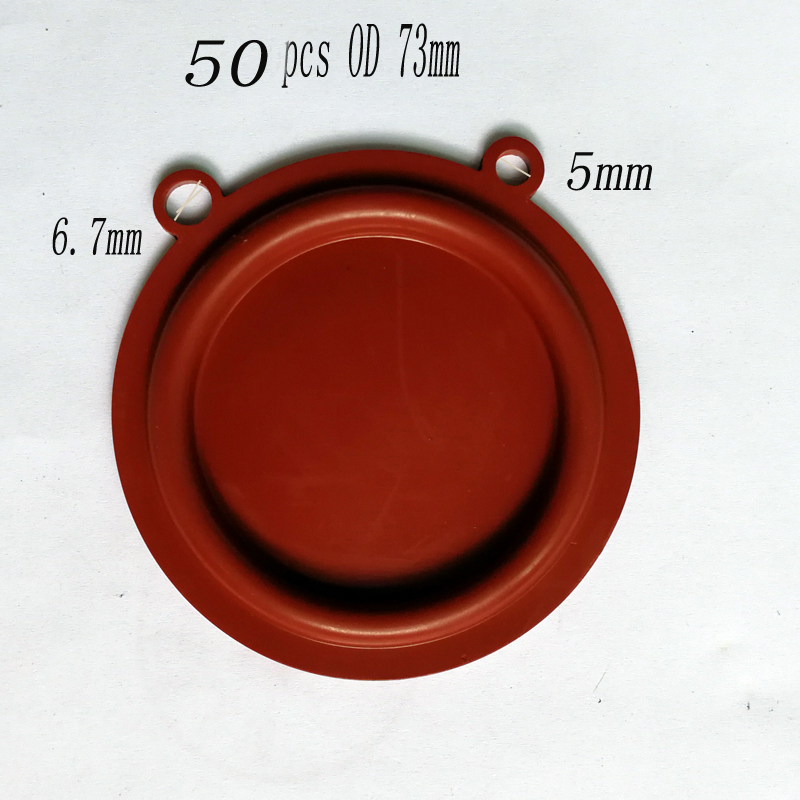 50 PCS OD 73mm Top Quality Gas Water Heater Pressure Two Ears Diaphragm Accessories Water Gas Linkage Valve Parts 10 pcs od 52mm gas water heater pressure diaphragm accessories water gas linkage valve parts
