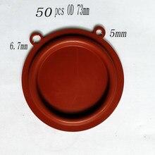 50 Uds OD 73mm de alta calidad Gas agua calentador presión dos orejas diafragma accesorios agua Gas Válvula de acoplamiento partes
