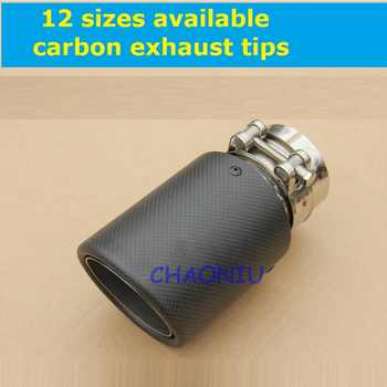 12 sizes carbon fiber 10 pcs car exhaust tip Universal Carbon Fiber Car Exhaust Pipe Tail Muffler Tip - DISCOUNT ITEM  0% OFF All Category