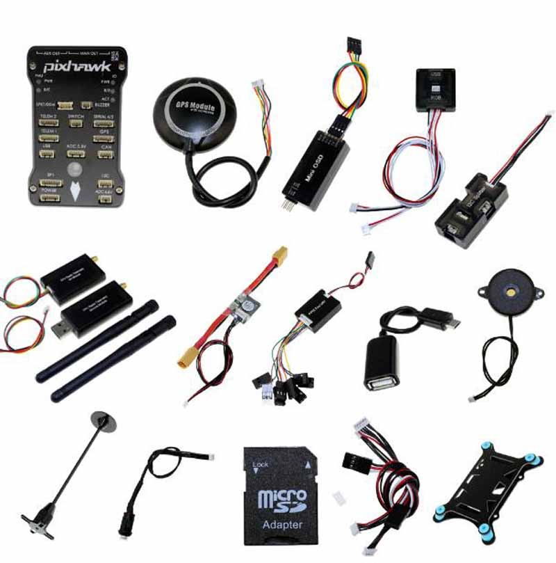 1Set PX4 High End Flight Control PIX Set FC+M8N GPS+Data Transmission For PIXHAWK2.4.8 433HMZ/915HMZ 100MW FPV Drone Parts original naza gps for naza m v2 flight controller with antenna stand holder free shipping