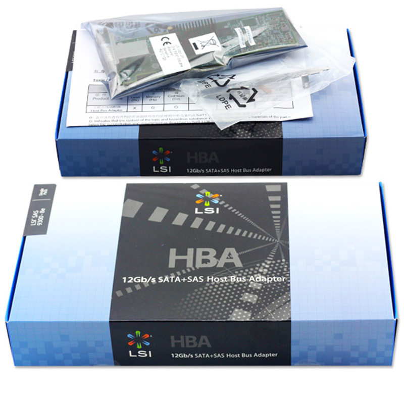 US $241 03 |Avago LSI SAS 9300 8E LSI00343 8 Port Host Bus Adapter SFF8644  NO Cache HBA PCI E3 0 X8 Controller Card-in Add On Cards from Computer &