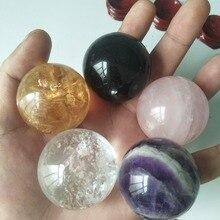 5 قطعة/الوحدة الطبيعية كرة كريستال كوارتز بلورات استشفاء الكالسيت كرة من الحجارة + ارتفع كريستال + حلم جمشت + كريستال شفاف