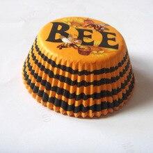 100 шт., милое Золотое пирожное для дня рождения, вкладыш, выпечка кексов форма для капкейков для мальчиков и девочек, детский душ