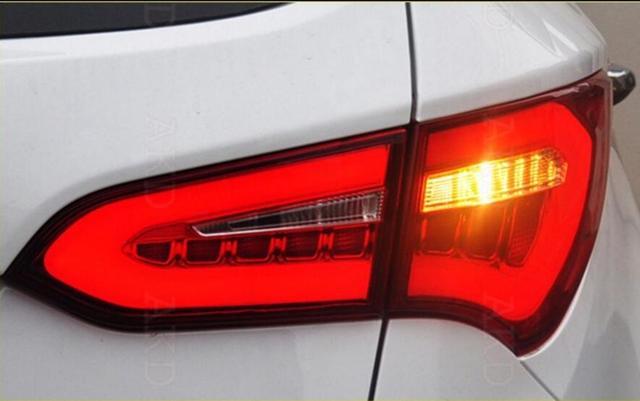 4pcs Rear LED Lights Tail Lamp Assembly Kit Upgrade LED Tail Light For  Hyundai Santa Fe