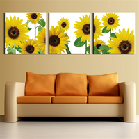 The Most Famous Living Room Painting Wall Art Picture Flower Sunflower For Home Decor Ideas Print