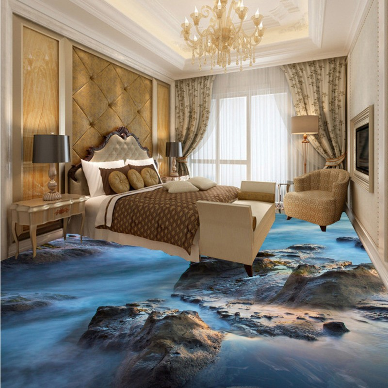 Free Shipping vast ocean 3D floor thickened non-slip bathroom living room bedroom kitchen office flooring wallpaper mural free shipping sea world dolphin 3d floor thickened wear non slip bedroom living room kitchen flooring wallpaper mural
