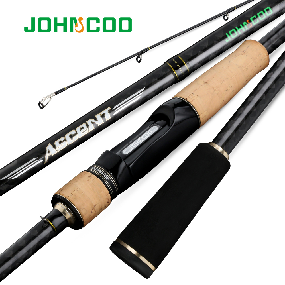 JOHNCOO Spinning Fishing Rod Fuji A rings Really Fast action 7 28g Test 40T Toray Carbon