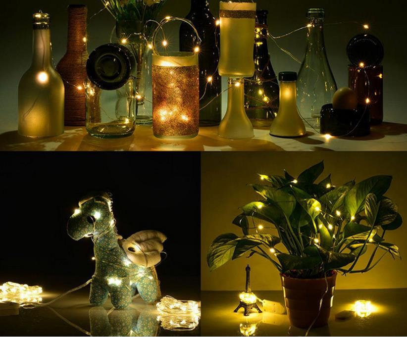 Party Decoration Micro Led Seed Vine Vase Lights Wedding Centerpiece Fairy String Light 2m Waterproof Christmas Decor In Glow Supplies From