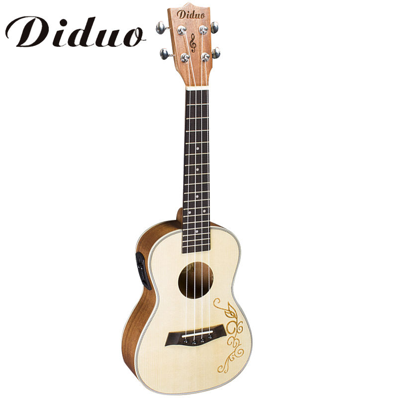 Listen Voice  23 inch Concert Ukulele 4 string Hawaiian guitar Ingman Spruce Panel Electric Ukelele with Pickup EQ CY-23C belcat bass pickup 5 string humbucker double coil pickup guitar parts accessories black