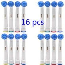 Vbatty 16pcs Elektrische Zahnbürste Köpfe (4 Packungen) Ersatz SB-17 NEUTRAL Precision Kompatibel für Oral-B