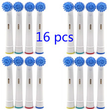 Vbatty 16pcs Electric Toothbrush Heads (4 paket) Penggantian SB-17 NEUTRAL Presisi Kompatibel Untuk Oral-B