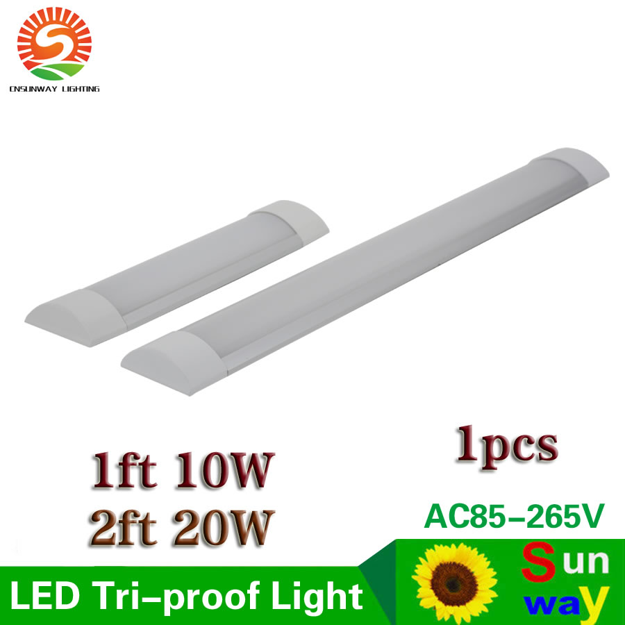 LED Tri-Proof Light Batten Tube Explosion Proof Tube 1ft 2ft LED Tube Lights Replace Fluorescent Light Fixture Ceiling 10W 20W цена