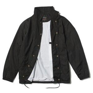 Image 4 - Nylon jaqueta de hip hop streetwear preto liso treinador blusão leve à prova d água para os homens do vintage
