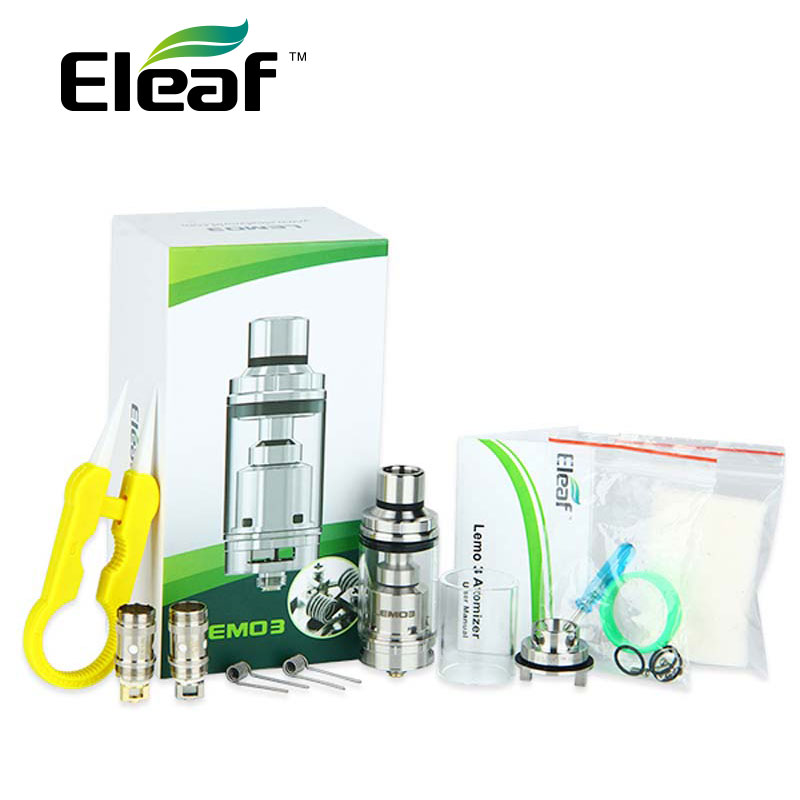 100% Original Eleaf Lemo 3 Atomizer Tank With RTA Base 4ml Capacity Top E-liquid Filling E-Cigarette Tank 510 thread 10 in 1 emergency survival gear professional first aid kit outdoor camping hiking survival tools whistle flashlight tactical pen