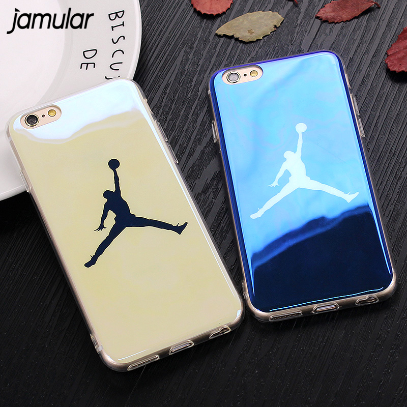 JAMULAR Slim Michael Jordan Case For iPhone 7 8 6 6s Plus X Silicone Soft Cases Back Cover for iPhone XR XS MAX Shell Fundas