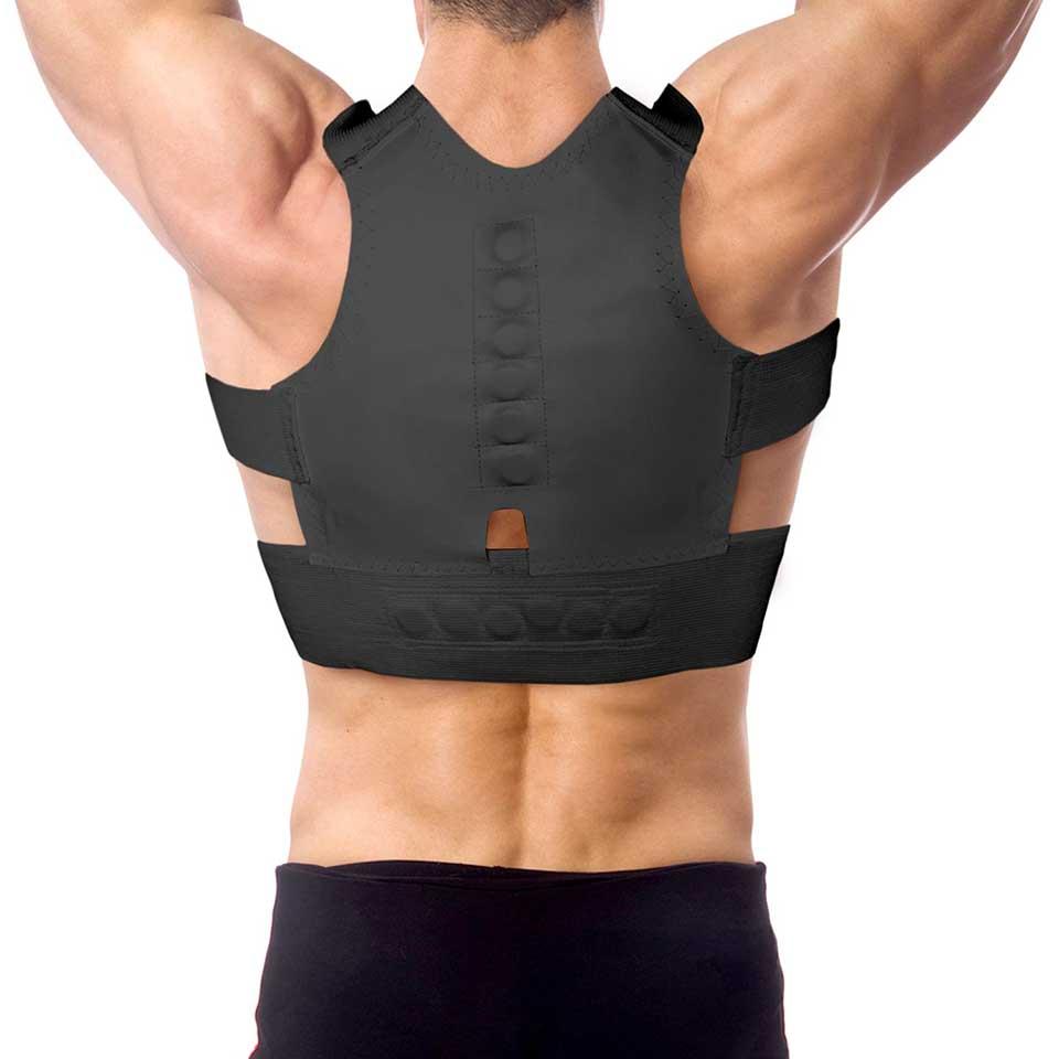 Correa de corrección de postura magnética hombros espalda postura apoyo postura correcta espalda soporte sujetador postura Lumbar cinturón S M L XXL