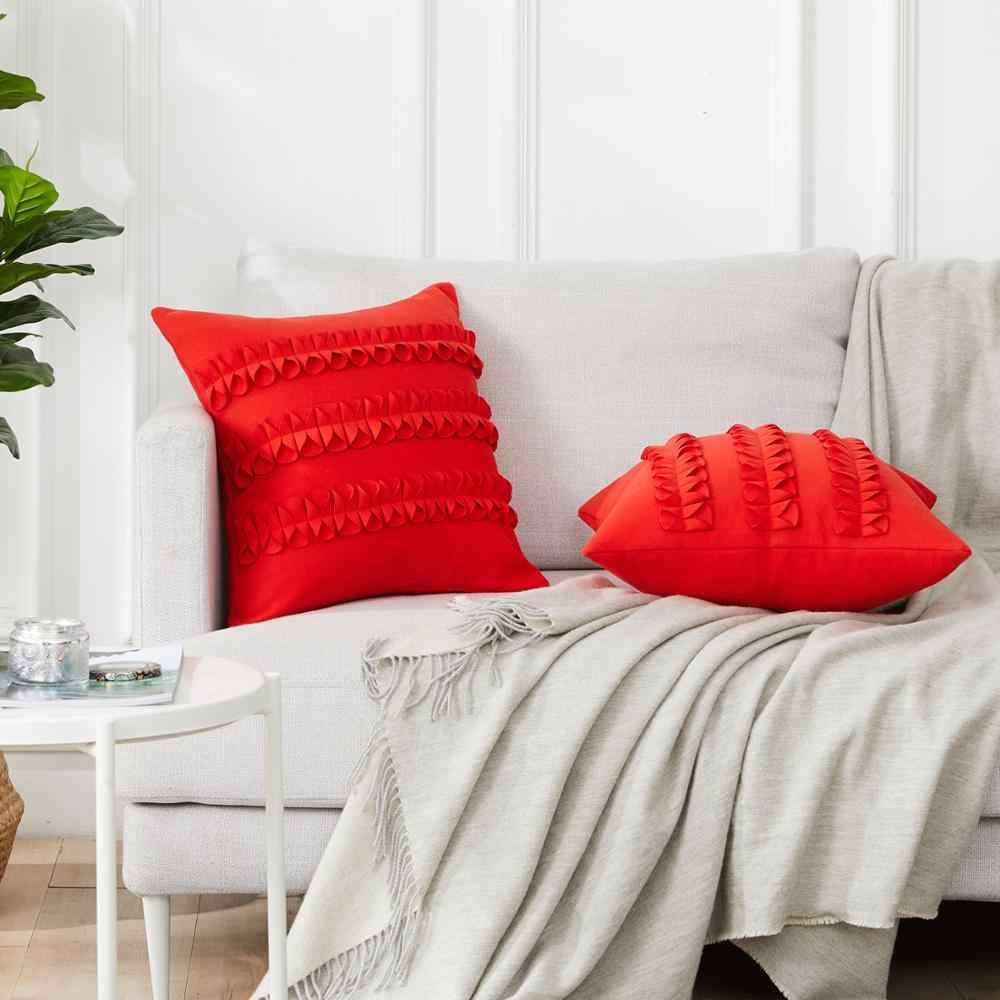 Topfinel Lucu Lembut Busur-Simpul Bantal Sampul Bantal Cover Mewah Persegi Dekoratif Bantal untuk Tidur Sofa Mobil Rumah Melempar bantal