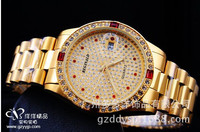 50 Meters Waterproof Good Quality Brand REGINALD Luxury Golden Man Quartz Wristwatches Date Crystal Gift Dress