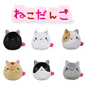 6 pcs/set peluche San-X  cute plush toys cartoon Sushi Cat / Kutusita Nyanko cat cosplay mini plush dolls free shipping