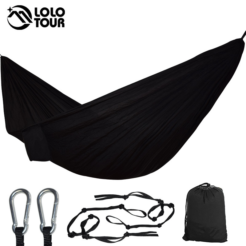 Portable Hammock Double Person Camping Survival Garden Hunting Leisure Travel Furniture Parachute Hammocks With Straps 3 2m 2 people hammock camping survival garden hunting leisure travel double person portable parachute hammocks hamaca hangstoel