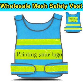 Spardwear HI vis chaleco azul de seguridad personalizado chaleco impresión chaleco  reflectante Workwear envío empresa insignia de la impresión 803a33f122b2