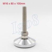 1PCS 80mm Diameter Solid Carbon Foot Cup M16 x 100mm Adjustable Furniture Foot Cups