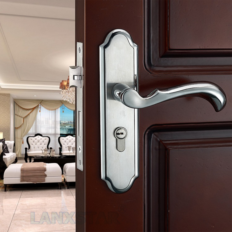 Manufacturer Offer High-quality Stainless Steel Interior Door Lock Handle Split-lock Mute Lockcore Machinery Door-locks