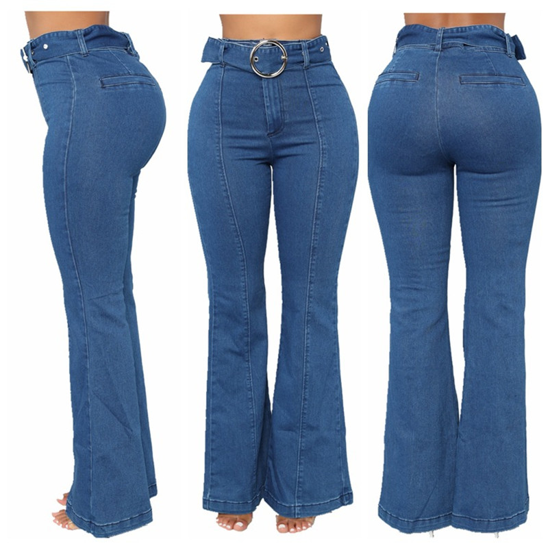 High Waist Flare Jeans Pant Jeans Acampanados Mujer Elastic Jeans Pants Jeans For Woman Camisa Feminina Trousers Pant Lj8004
