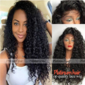 Cheap Good Quality Synthetic Lace Front Wig Synthetic Hair Afro Kinky Curly Black Color Glueless Lace Front Wig For Black Women