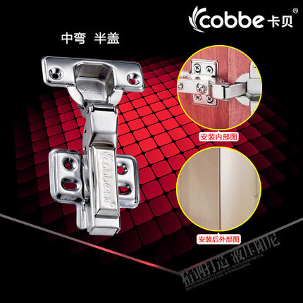 steel Detachable fixed Concealed Self Close Half Overlay hydraulic Hinge door gate Cabinet cupboard furniture hinge Frameless 2pcs set stainless steel 90 degree self closing cabinet closet door hinges home roomfurniture hardware accessories supply