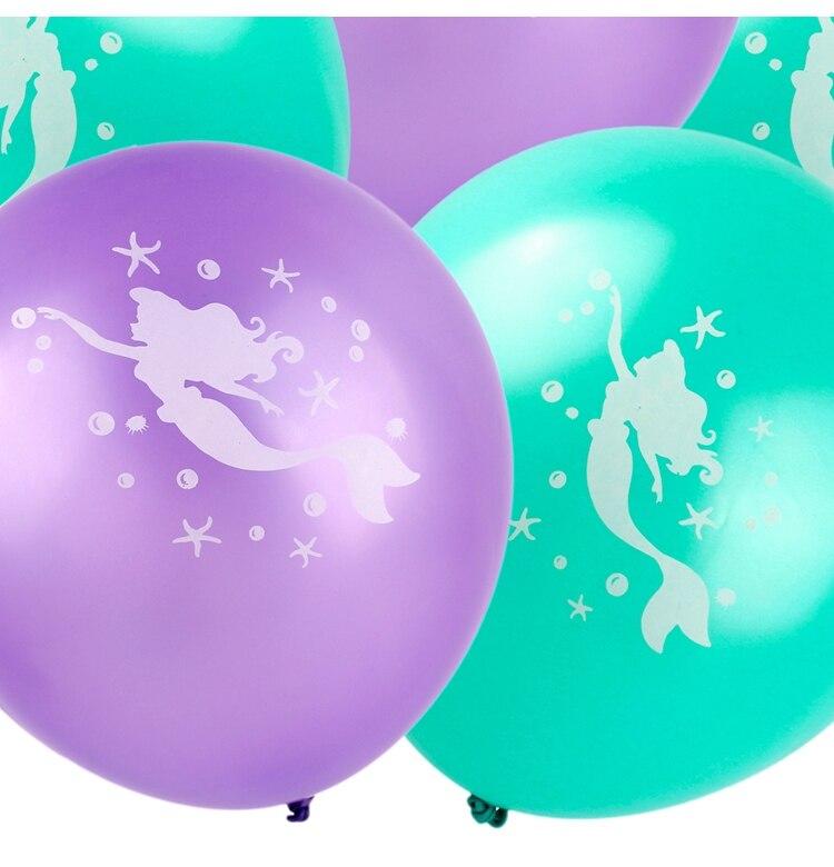 mermaid party plates W3003-00-04