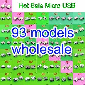 цена на 93 model micro usb jack connector charging Port plug socket 5Pin for Samsung XIAOMI HTC Lenovo Huawei mobile phone tablet pc mid
