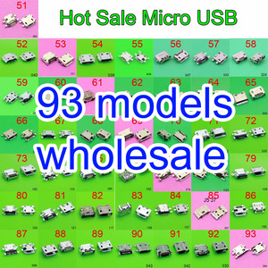 Image 1 - 93 דגם מיקרו usb שקע מחבר טעינת נמל תקע שקע 5Pin עבור סמסונג XIAOMI HTC Lenovo Huawei נייד טלפון tablet מחשב mid