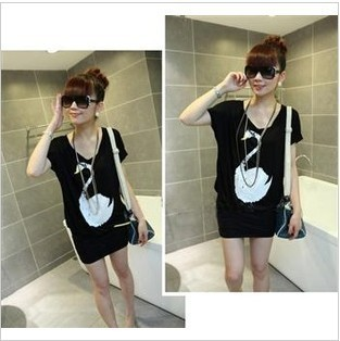 2012 summer memories of the new dress tide sneak han edition joker swan figure bats short-sleeved dress cultivate one's morality