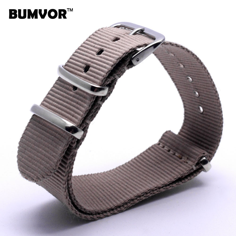Retro Classic Watch 18 mm Army Grey Yellow Military nato fabric Woven Nylon watchbands Strap Band Buckle belt 18mm accessories
