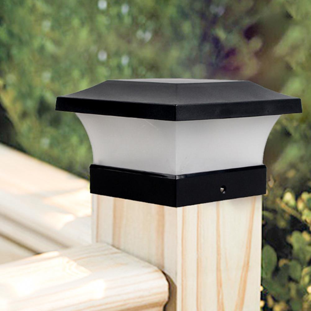 LED Solar Power Garden Light Square Post Lights IP65 Waterproof Column Light for Outdoor Garden Courtyard Porch Wall Lamp