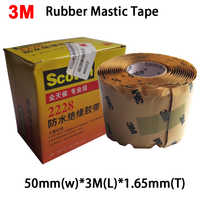 3M Scotch 2228 Rubber Mastic Tape Moisture Sealing Electrical 50mmx3mx1.65mm (2in. x10ft. x,065in.) All Day, Professional Class