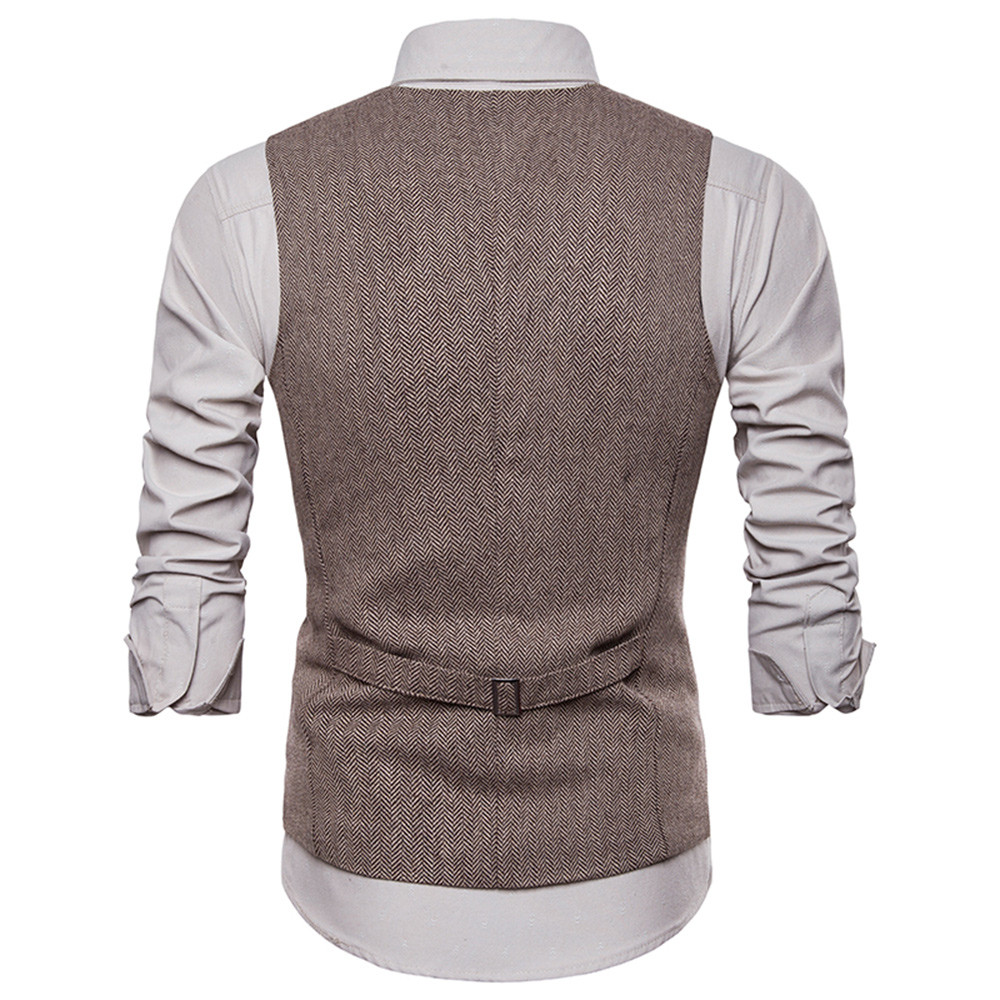 2019 Brand Suit Vest Jacket Sleeveless rand Suit Vest Men Jacket Sleeveless men Casual Sleeveless Jacket Coat Single breastedt