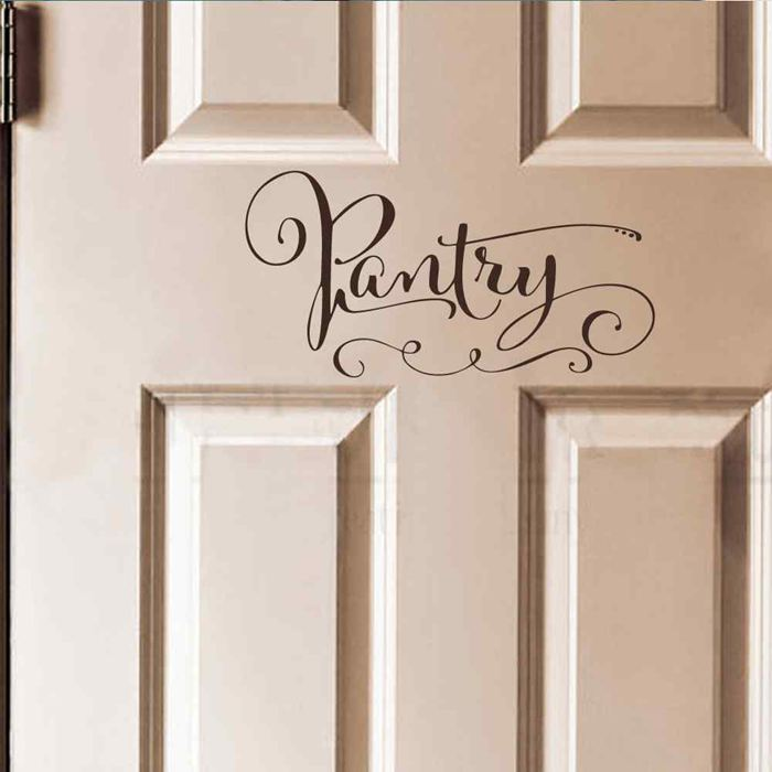 Online get cheap pantry door alibaba group for Door mural decals