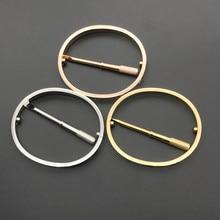 1PCS Titanium Steel Screw Bracelets For Women Men Silver Gold Rose Gold Lover Bangles Bracelet Couple Jewelry With Box Set недорого