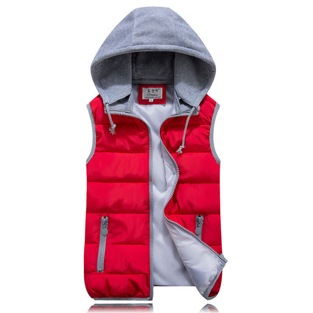Winter Outerwear Hooded Down Vest Women Cotton Wool Collar Hot Brand Female Thicken Warm Removable Hat High Quality Jacket S227
