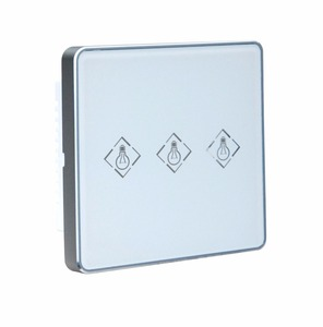 433mhz 868mhz 3ch wireless electronic light switch work with Focus alarm MeiAn alarm panel smart home wifi smart light switch(China)
