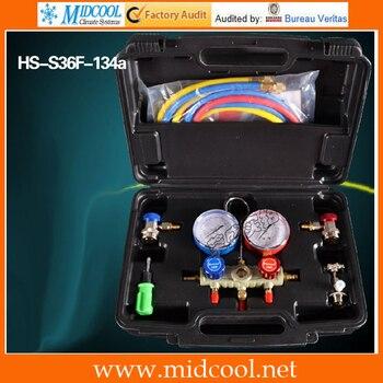 Model HS-S36F-134a Manifold Gauge Aluminum Valve Body