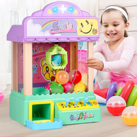 DAODANGUI Children's Toys Mini Claw Arcade Crane Doll Machine Coin Candy Machine Capsule Toys Machine Small Home Game Machine