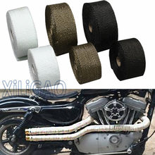 5M 10M Hot Heat Exhaust Thermo Wrap Shield Protective Tape Fireproof Insulating Cloth Roll Kit For MOTORCYCLE CAR FT001(China)