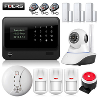 FUERS G90B Plus WIFI GSM 2G Alarm System Wireless IOS Android APP Control Home Security Buglar Alarm Panel With 8 Languages