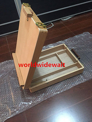 Artist Desk Easel Wood Table Portable Drawing Sketch Painting Drawer Box Case