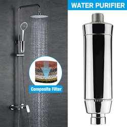 Домашний очиститель воды хлор душевой фильтр активированный уголь смесители очистка устраняет хлор жесткая вода ванная комната