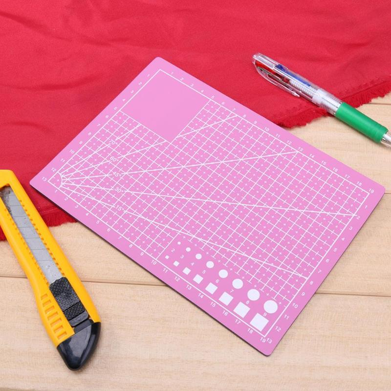 A5 PVC Patchwork Cutting Base Mat Pad Patchwork Tools Manual DIY Tool Cutting Board Crafts Double-sided Self-healing